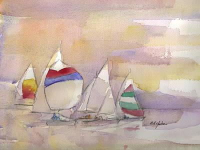Scot Painting - The Race Is On  by Robert Yonke