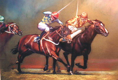 Painting - The Race by Lynda Robinson
