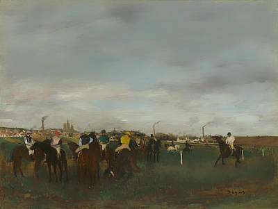 Race Horse Painting - The Races by Mountain Dreams