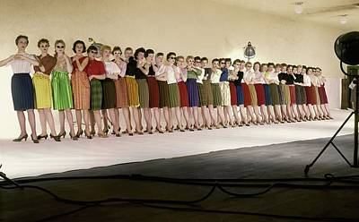 In A Row Photograph - The Radio City Rockettes by John Rawlings