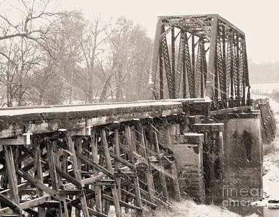 The Rail Bridge Print by R McLellan