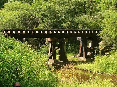 Photograph - The Railroad Bridge by Lew Davis