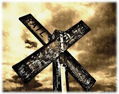 The Railroad Crossing Art Print