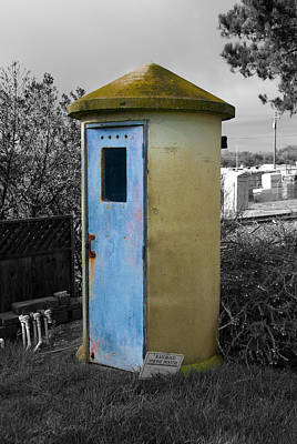 Photograph - The Railroad Phone Booth by Richard J Cassato