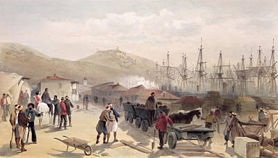 Balaclava Drawing - The Railway At Balaklava, Plate by William 'Crimea' Simpson