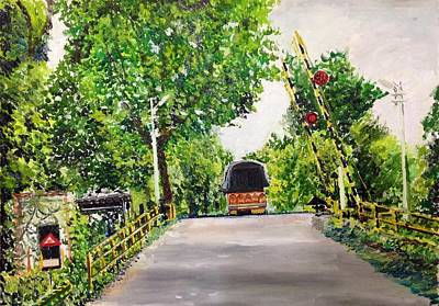 Painting - The Railway Crossing by Aditi Bhatt