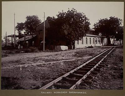 The Railway Workshop Art Print by British Library
