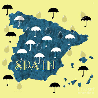 Digital Art - The Rain In Spain by Andee Design