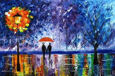 The Rain Art Print by Mariana Stauffer