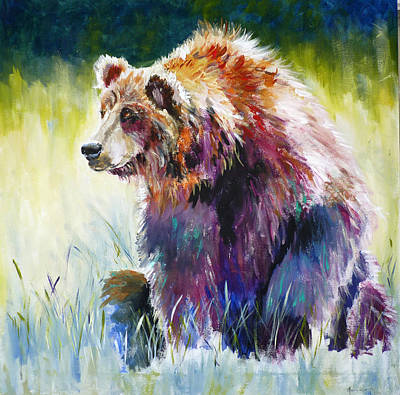 The Rainbow Bear Art Print by P Maure Bausch