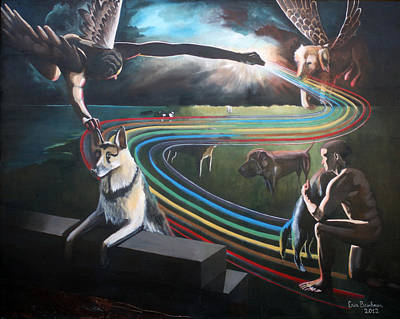 Painting - The Rainbow Bridge by Erin Brinkman