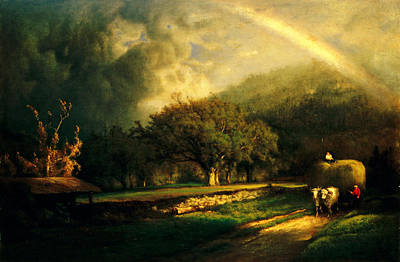 Painting - The Rainbow In The Berkshire Hills by Celestial Images