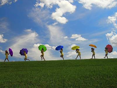 Positive Attitude Photograph - The Rainbow Stroll by Chrystyne Novack