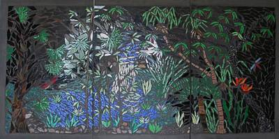 Mural Mixed Media - The Rainforest by Alison Edwards