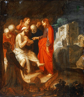 Painting - The Raising Of Lazarus by Jan Pynas
