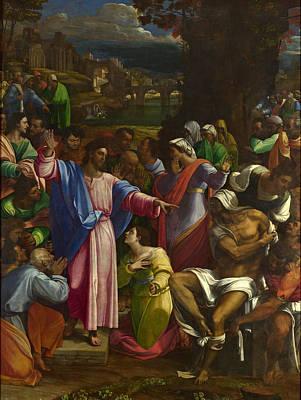 Painting - The Raising Of Lazarus by Sebastiano del Piombo