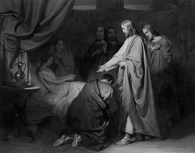 Schmidt Drawing - The Raising Of The Daughter Of Jairus, Willem Hendrik by Litz Collection