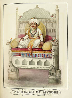 Royal Ladies Photograph - The Rajah Of Mysore by British Library