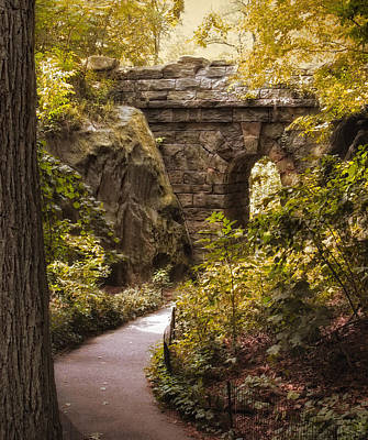 Photograph - The Ramble Stone Arch by Jessica Jenney