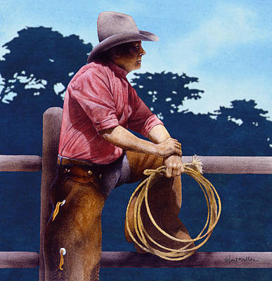Carmel Valley Painting - The Rancher... by Will Bullas