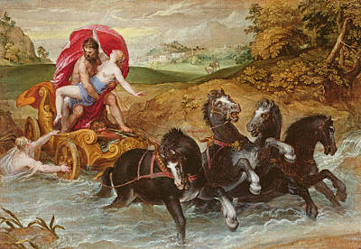 Pluto Painting - The Rape Of Proserpine, C.1573 by Christoph Schwartz or Schwarz