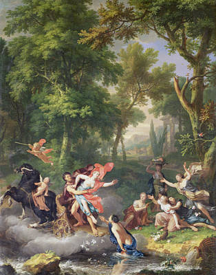 Rape Painting - The Rape Of Proserpine by Jan van Huysum