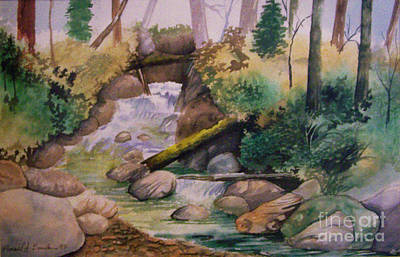Painting - The Rapids by Ron Bowles