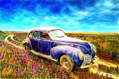 The Rare And Elusive Lincoln Zephyr Art Print by Ric Darrell