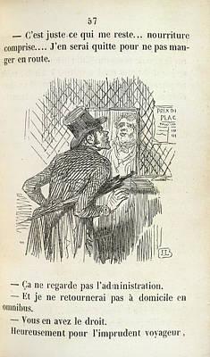 The Rash Traveller Art Print by British Library