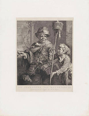 The Rat Catcher With His Servant, Dirk Jurriaan Sluyter Print by Dirk Jurriaan Sluyter