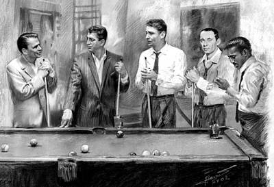 Frank Sinatra Drawing - The Rat Pack by Viola El