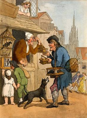 Rabbit Drawing - The Rat Trap Seller From Cries by Thomas Rowlandson