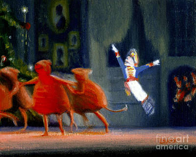 Bluffton Painting - The Rats With Nutcracker by Candace Lovely