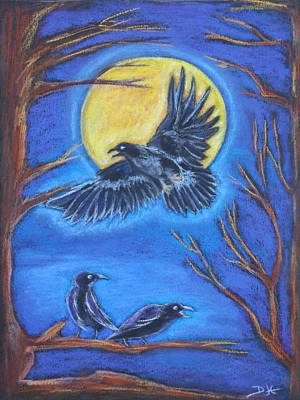Pastel - The Raven by Diana Haronis