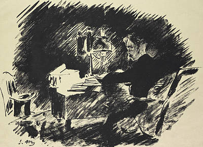 Poe Drawing - The Raven by Edouard Manet