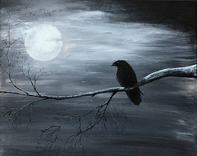 Painting - The Raven Piece 2 Of 2 by Gray  Artus