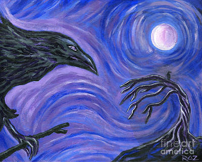 Painting - The Raven by Roz Abellera