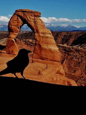 Delicate Arch Photograph - The Raven by Sarah Pemberton