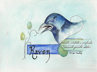 Painting - The Raven by Tamyra Crossley