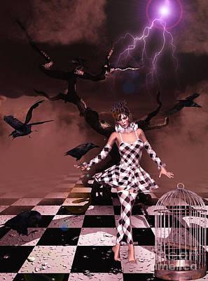 Corvid Digital Art - The Raven's Interlude by Putterhug  Studio