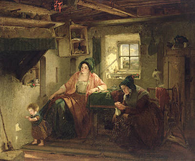 The Ray Of Sunlight, 1857 Oil On Canvas Art Print