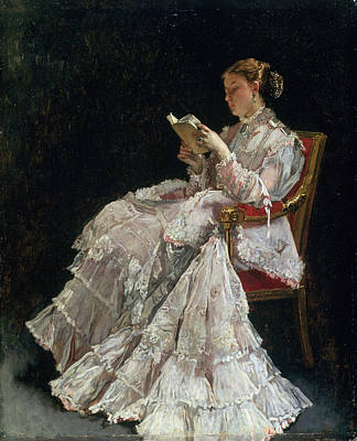 Concentration Painting - The Reader, C.1860 by Alfred Emile Stevens