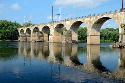 New Jersey Photograph - The Reading Csx Railroad Bridge At Ewing by Steven Richman