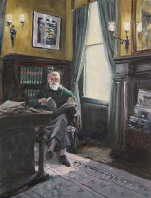 Painting - The Reading Room by Connie Schaertl