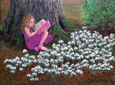 The Reading Tree Art Print by Janet Greer Sammons