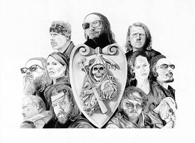 Sons Of Anarchy Drawing - The Reaper Crew by Keith Larocque