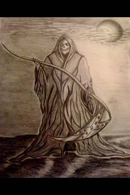 Confederate Flag Drawing - The Reaper by Kolene Parliman