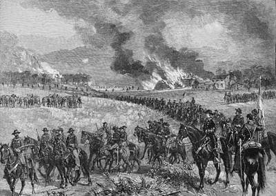The Rear-guard General Custers Division Retiring From Mount Jackson, October 7th 1864, Illustration Art Print