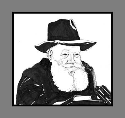 Judaica Drawing - The Rebbe by Baruch Y Lebovits