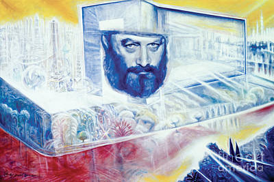 Painting - The Rebbe Resurrected by Yael Avi-Yonah